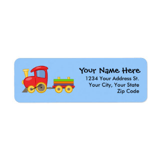 Choo Choo Train Return Address Labels