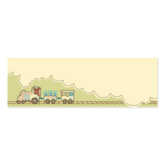 Choo Choo Train Skinny Gift Tag 2 Pack Of Skinny Business Cards