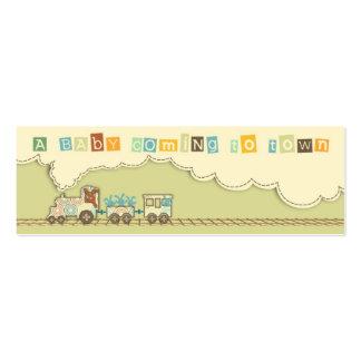 Choo Choo Train Skinny Gift Tag Business Card Template
