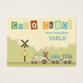 Choo Choo Train Table Card Flat Mini