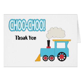 Choo Choo Train Thank You Card