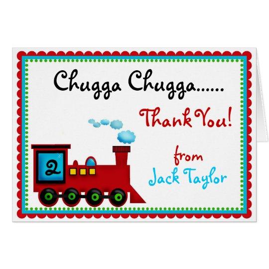 Choo Choo Train  Thank You Note Cards