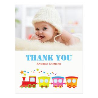 Choo Choo Train Thank You Photo Post Card