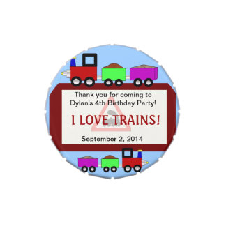 Choo Choo Train Themed Party Favor Tins! Jelly Belly Candy Tin