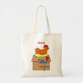 Chook House Funny Chicken on House Cartoon Bag