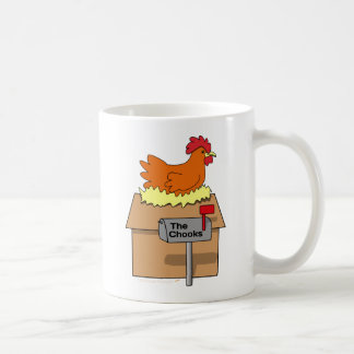 Chook House Funny Chicken on House Cartoon Coffee Mugs