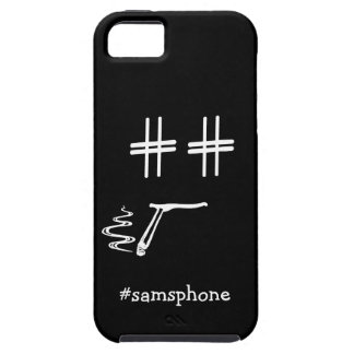 CHOOSE ANY COLOR #Hashtag Dude Smiley Personalized iPhone 5 Covers