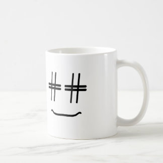 CHOOSE ANY COLOR # Hashtag Smiley Face Cute Coffee Mug