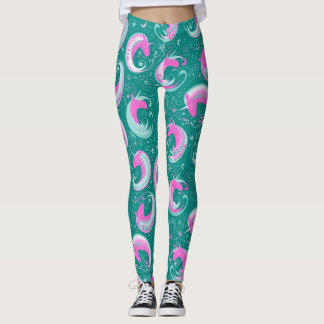 Choose Background Color for Unicorns Leggings