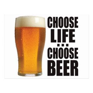 Choose Beer. Postcard