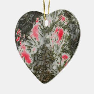 Choose Color Christmas Camo Ceramic Heart Decoration