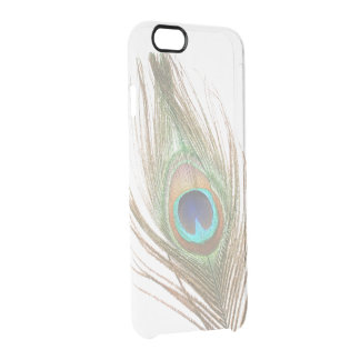 Choose Color Peacock Feather Clear iPhone 6/6S Case