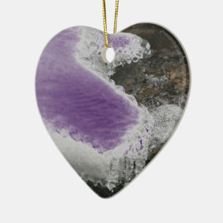 Choose Color River Icicles Ceramic Heart Decoration