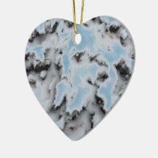 Choose Color Snow Camo Ceramic Heart Decoration