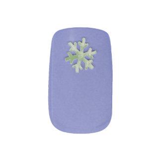 Choose Color Snowflake on Purple Minx Nail Art