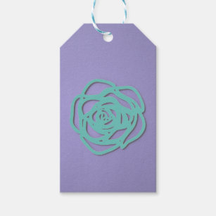 Choose Colour Rose on Purple Gift Tags