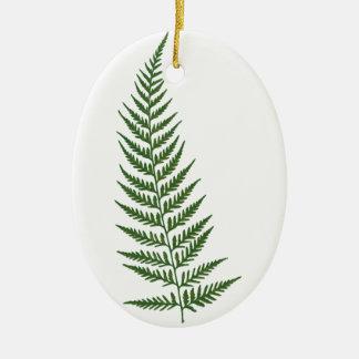 Choose Custom Color Pressed Fern Leaf Ceramic Oval Decoration