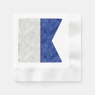 Choose from 26 Watercolor Nautical Maritime Flags Disposable Serviette