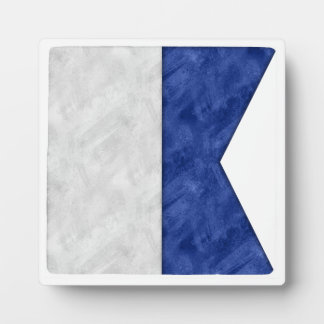Choose from 26 Watercolor Nautical Maritime Flags Plaque