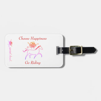 Choose Happiness - Go Riding Luggage Tag