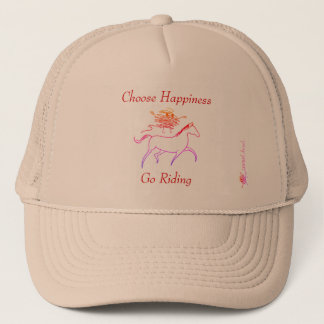 Choose Happiness - Go Riding Trucker Hat