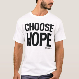 Choose Hope Obama 08 - Vintage 80s Style T-shirt