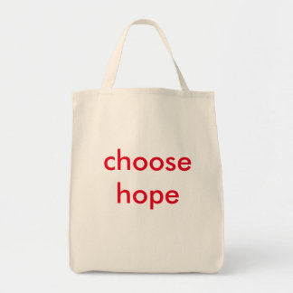 choose hope tote bag