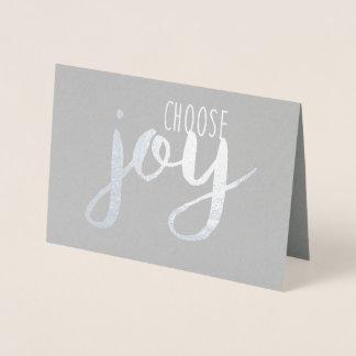 Choose Joy Foil Card