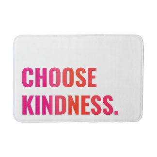 CHOOSE KINDNESS Sunset Pink/Tangerine Bath Mat