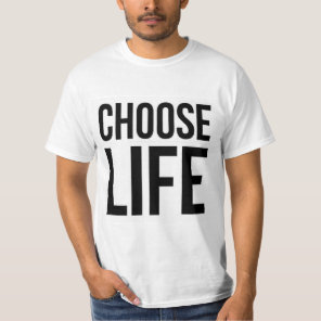 Choose Life 80s Vintage Classic Prolife T-Shirt