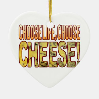 Choose Life Blue Cheese Ceramic Heart Decoration