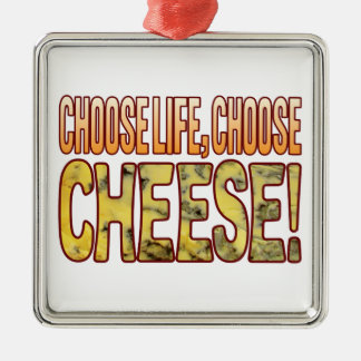Choose Life Blue Cheese Silver-Colored Square Decoration