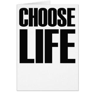 CHOOSE LIFE eighties card