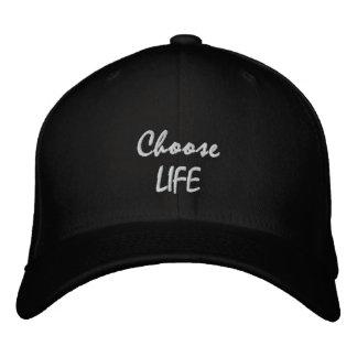 Choose LIFE Embroidered Baseball Caps