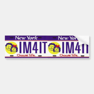 Choose Life New York License Plate Bumper Sticker