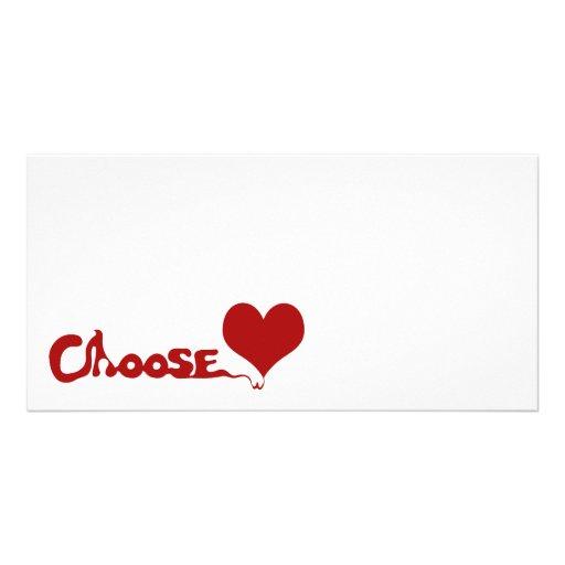 Choose Love Customized Photo Card
