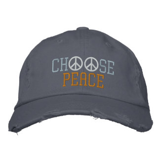 Choose Peace Embroidered Hats