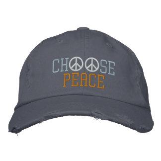 Choose Peace Embroidered Baseball Caps