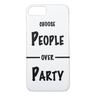 Choose People over Party iPhone case