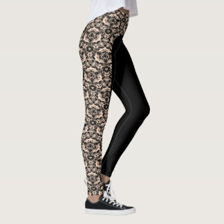 "Choose the Colour ""Regal Lace"" Design Leggings"