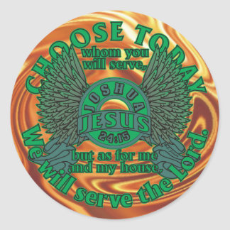 Choose Today Classic Round Sticker