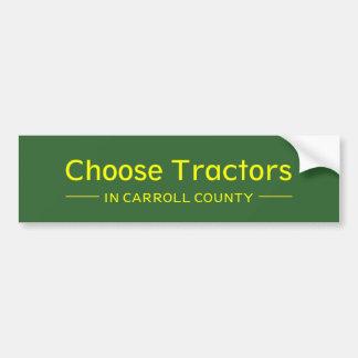 Choose Tractors in Carroll County Bumper Sticker