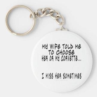 Choose Wife or Corvette Key Ring