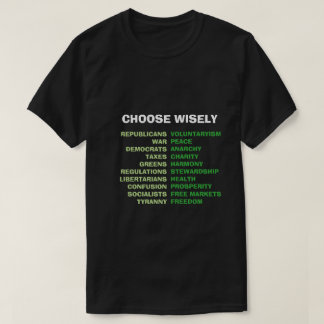 Choose Wisely Tyranny or Freedom T-Shirt