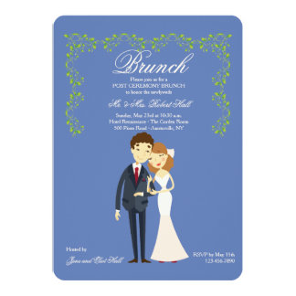 Choose You Own Color Post Wedding Brunch Invites