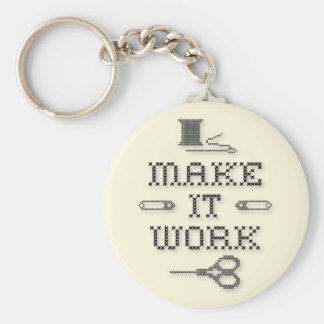 Choose Your Background Color Fashion Basic Round Button Key Ring