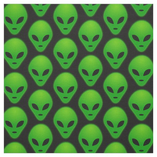Custom combed cotton 56 width fabric zazzle for Alien print fabric