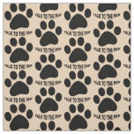 Choose your background colour Paw print fabric