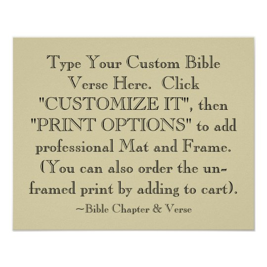 Choose Your Bible Verse Art Print, Optional Framed