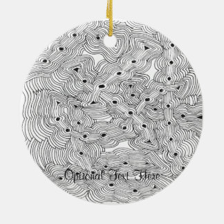 Choose your Color Abstract Ant Farm Christmas Ornaments